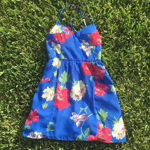 Padded floral dress